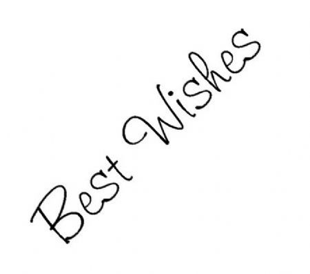 Best Wishes Clear Rubber Stamp by Crafty Impressions